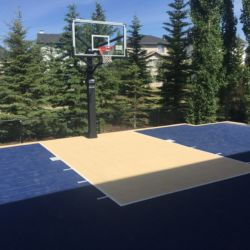 Concrete pad with Sport Court